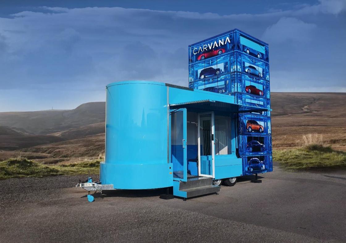 Mobile Marketing Roadshow Vehicle Beacon for Carvana | The Clear Idea